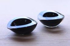 画像8: ビンテージ北欧雑貨/Kaj Franck/カイ・フランク/Nuutajarvi/ニュータルヤルヴィ/KF211/Chestnut bowl/Black/No.1 (8)