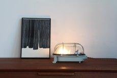 画像5: 北欧デンマーク/デットストック/スチール×ガラス/ウォールライト(街灯) (5)