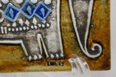 画像3: 北欧雑貨/Lisa Larson /リサ・ラーソン/ アンティーク/UNIK Elefant/ゾウと王様/陶板/No.2 (3)