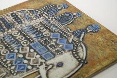 画像5: 北欧雑貨/Lisa Larson /リサ・ラーソン/ アンティーク/UNIK Elefant/ゾウと王様/陶板/No.2 (5)