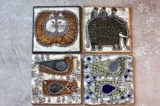 画像6: 北欧ビンテージ雑貨/Lisa Larson /リサ・ラーソン/UNIK Fagler/小鳥陶板/No.1 (6)