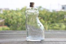 画像1: Lisa Larson リサ・ラーソン ROYAL KRONAネコ ガラスボトル (1)