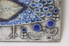 画像4: ビンテージ北欧雑貨/Lisa Larson/リサ・ラーソン/アンティーク/UNIK Fagler/小鳥陶板/ブルー (4)