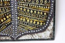 画像2: 北欧雑貨/Lisa Larson リサ・ラーソン アンティーク UNIK リーフ陶板 (2)
