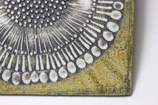 画像3: 北欧雑貨/Lisa Larson リサ・ラーソン アンティーク UNIK Solros レアカラー ひまわり陶板  (3)