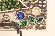 画像3: 北欧雑貨/Lisa Larson リサ・ラーソン アンティーク UNIK Fagler 小鳥陶板 グリーン&マスタード (3)