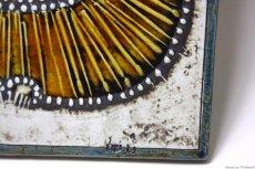 画像3: 北欧雑貨/Lisa Larson リサ・ラーソン アンティーク UNIK CAT 丸ネコ陶板  (3)