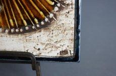 画像5: 北欧雑貨/Lisa Larson リサ・ラーソン アンティーク UNIK CAT 丸ネコ陶板 少々難あり (5)