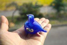 画像8: 北欧アートガラス/ビンテージガラス/Oiva Toikka/オイバ・トイッカ/イッタラ/Birds/バード/Golden-Crested Kinglet/ブルー/No.1 (8)