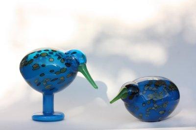 画像1: 北欧アートガラス/ビンテージガラス/Oiva Toikka/オイバ・トイッカ/iittala/イッタラ/Birds/バード/Lagoonkiwi/ラグーンキウイ