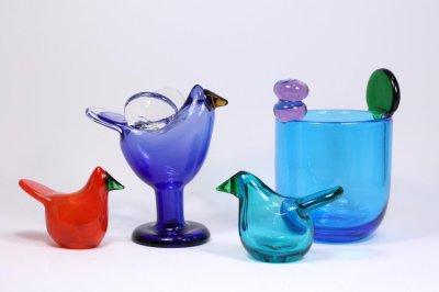画像1: 北欧アートガラス/ビンテージガラス/Oiva Toikka/オイバ・トイッカ/オイヴァ・トイッカ/Nuutajarvi/ヌータヤルヴィ/Sieppo/シエッポ/初期レッド