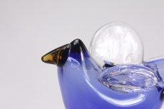 画像6: 北欧アートガラス/ビンテージガラス/Oiva Toikka/オイバ・トイッカ/Nuutajarvi/ヌータヤルヴィ/Sieppo/シエッポスタンド/レアカラーブルー (6)