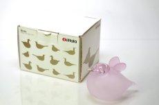 画像8: 北欧アートガラス/ビンテージガラス/Oiva Toikka/オイバ・トイッカ/iittala/イッタラ/Birds/バード/Baby Pink /ベイビーピンク (8)