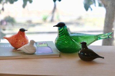 画像1: 北欧アートガラス/ビンテージガラス/Oiva Toikka/オイバ・トイッカ/iittala/イッタラ/Birds/バード/ダークグリーン