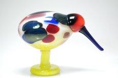 画像4: 北欧アートガラス/ビンテージガラス/Oiva Toikka/オイバトイッカ/NUUTAJARVI/iittala/イッタラ/Birds/バード/Jalokiwi/Jewelled Kiwi/ジュエルドキウイ/委託品 (4)