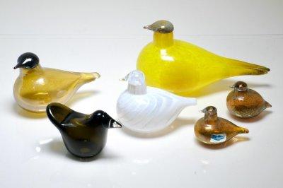 画像1: 北欧アートガラス/Nuutajarvi/ヌータヤルヴィ/iittala/イッタラバード/Oiva Toikka/オイバトイッカ/2001-03年/Chiffchaff