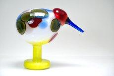 画像3: 北欧アートガラス/ビンテージガラス/Oiva Toikka/オイバトイッカ/NUUTAJARVI/iittala/イッタラ/Birds/バード/Jalokiwi/Jewelled Kiwi/ジュエルドキウイ (3)