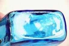 画像7: 北欧アートガラス/ビンテージガラス/Oiva Toikka/オイバ・トイッカ/Nuutajarvi/ヌータヤルヴィ/ PomPom Bottle/N526/ブルー (7)