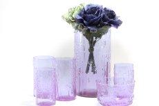 画像7: 北欧ビンテージガラス/オイバトイッカ/ヌータヤルヴィ/フローラ/ベース/花瓶/高さ21cm//フラワーベース/アメジスト (7)