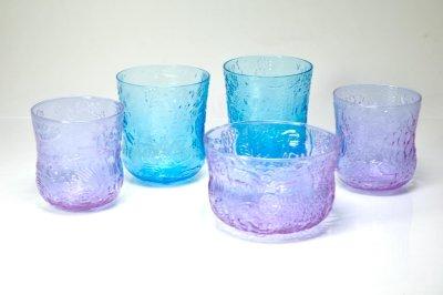 画像1: 北欧ビンテージガラス/Oiva Toikka/オイバ・トイッカ/ファウナ/NUUTAJARVI/ヌータヤルヴィ/アメジスト/Sグラス