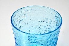 画像3: 北欧ビンテージガラス/Oiva Toikka/オイバ・トイッカ/ファウナ/NUUTAJARVI/ヌータヤルヴィ/ブルー/グラス (3)