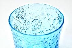 画像4: 北欧ビンテージガラス/Oiva Toikka/オイバ・トイッカ/ファウナ/NUUTAJARVI/ヌータヤルヴィ/ブルー/グラス (4)