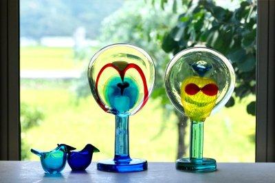 画像1: 北欧アートガラス/ビンテージガラス/アートピース/Oiva Toikka/オイバトイッカ/Lollipop/ロリポップ/2004/200個限定