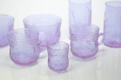 画像1: 北欧ビンテージガラス/Oiva Toikka/オイバ・トイッカ/ファウナ/NUUTAJARVI/ヌータヤルヴィ/アメジスト/ショットグラス
