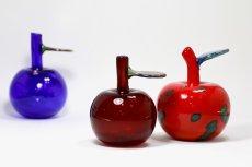 画像11: 北欧アートガラス/Oiva Toikka/オイバ・トイッカ/Nuutajarvi/ヌータヤルヴィ/Fruits/アップルボトル/レッド斑点 (11)