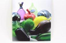 画像10: 北欧アートガラス/Oiva Toikka/オイバ・トイッカ/Nuutajarvi/ヌータヤルヴィ/Fruits/アップルボトル/レッド斑点 (10)