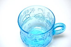 画像2: 北欧ビンテージガラス/Oiva Toikka/オイバ・トイッカ/ファウナ/NUUTAJARVI/ヌータヤルヴィ/ブルー/グラスハンドル付き (2)