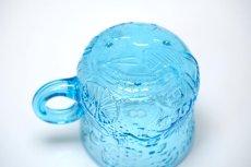画像4: 北欧ビンテージガラス/Oiva Toikka/オイバ・トイッカ/ファウナ/NUUTAJARVI/ヌータヤルヴィ/ブルー/グラスハンドル付き (4)