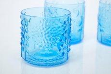 画像3: 北欧ビンテージガラス/オイバトイッカ/フローラ/ヌータヤルヴィ/グラス/ライトブルー (3)