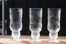 画像1: 北欧ビンテージガラス/Oiva Toikka/オイバ・トイッカ/ファウナ/NUUTAJARVI/ヌータヤルヴィ/クリア/ビアグラス (1)