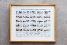 画像1: 北欧デンマーク/ビンテージクリスマスシート切手/木製フレーム付き/1975年  (1)