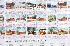 画像3: 北欧デンマーク/ビンテージクリスマスシート切手/木製フレーム付き/1975年  (3)