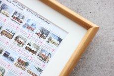 画像4: 北欧デンマーク/ビンテージクリスマスシート切手/木製フレーム付き/1975年  (4)