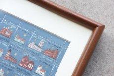 画像4: 北欧デンマーク/ビンテージクリスマスシート切手/木製フレーム付き/1964年  (4)
