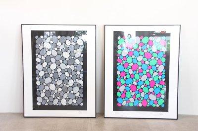 画像1: Verner Panton collection/ヴェルナー パントン コレクションアイテム/1986 Stones 2 /シルクスクリーン/モノトーン/フレーム付き