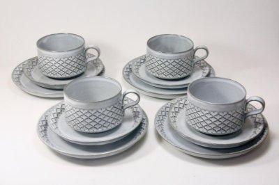 画像1: 北欧ビンテージ/クィストゴー/Cordial /コーディアル/Nissen/グレー/コーヒーカップ&ソーサー/No.4
