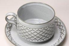 画像3: 北欧ビンテージ/クィストゴー/Cordial /コーディアル/Nissen/グレー/コーヒーカップ&ソーサー/No.4 (3)