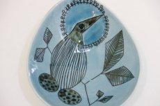 画像2: Rorstrand/ロールストランド/Sylvia Leuchovius/絵皿/ブルー小鳥 (2)