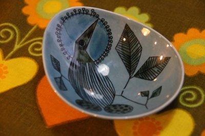 画像2: Rorstrand/ロールストランド/Sylvia Leuchovius/絵皿/ブルー小鳥