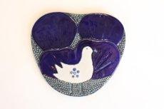 画像1: Rorstrand/ロールストランド/Sylvia Leuchovius /白い小鳥/陶板 (1)