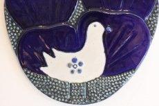 画像2: Rorstrand/ロールストランド/Sylvia Leuchovius /白い小鳥/陶板 (2)