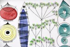 画像3: 北欧ビンテージ/Rorstrand/ロールストランド/マリアンヌ・ウェストマン/Picknick/ピクニック/42cmトレイ (3)
