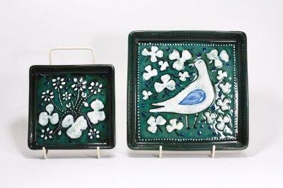画像1: Rorstrand/ロールストランド/Sylvia Leuchovius/シルヴィア・レウショヴィウス//陶板/絵皿/鳥