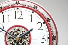 画像2: Rorstrand/ロールストランド&Westerstrand/壁掛け時計/レッド&ブラック (2)