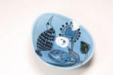 画像2: Rorstrand/ロールストランド/Sylvia Leuchovius/絵皿/ブルー小鳥/No.1 (2)