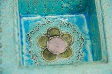 画像5: 北欧ビンテージ/北欧アート/Rut Bryk/ルート・ブリュック/Ashtray/陶板/15cm/ブルー系 (5)